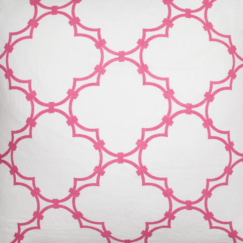 Quatrefoil - Pink Fabric Swatch