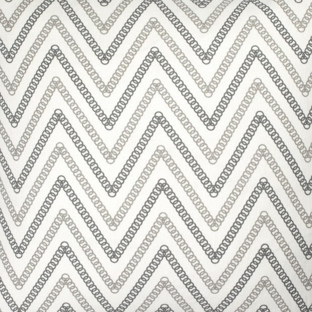 Circle Chevron - Grey & Charcoal Fabric Swatch