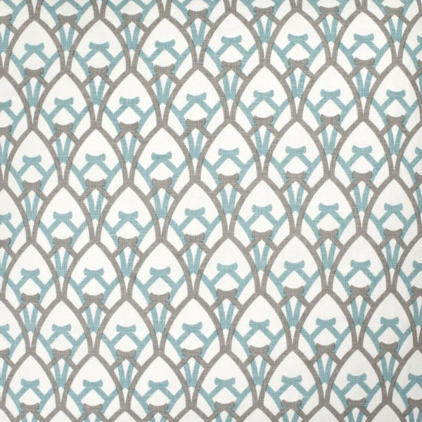 Arch - Light Blue & Grey Fabric Swatch