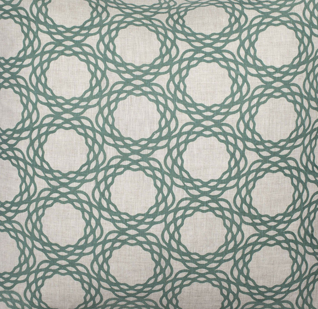 Oxford Natural Linen - Sea Green Fabric Swatch