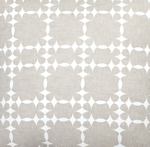 Tower Court Natural Linen - White Fabric Swatch