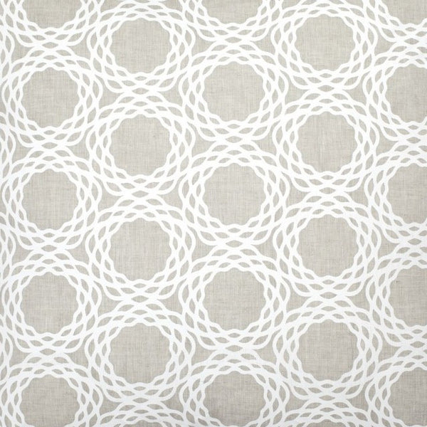 Oxford Natural Linen - White Fabric Swatch