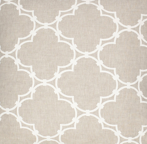 Quatrefoil - Natural Linen White Fabric Swatch