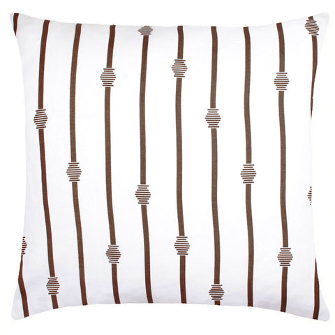 COCOCOZY Stripe Linen Pillow - Brown