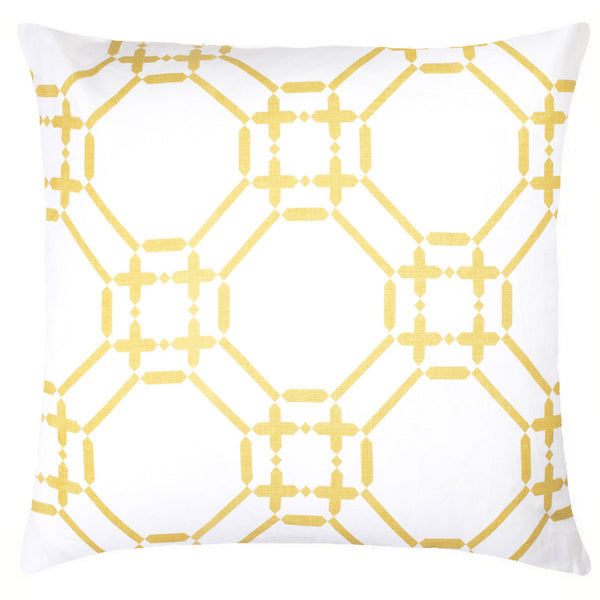 Ring Linen Pillow - Yellow