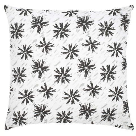 Etoile Cotton Pillow -  Black & Mist