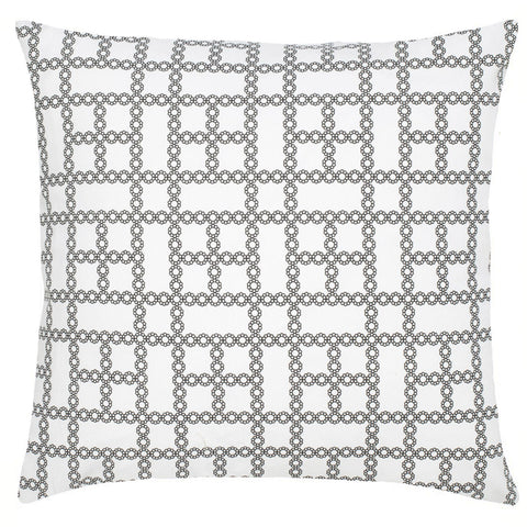 Chain Cotton Pillow - Black