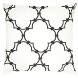 Quatrefoil Linen Pillow - Black