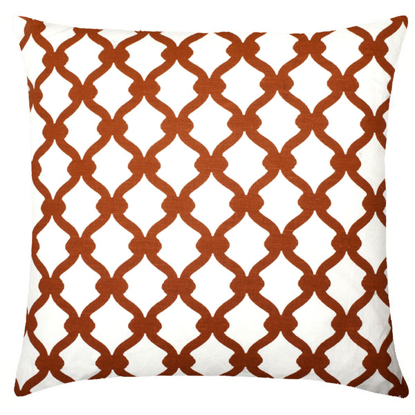 Gate Linen Pillow - Rust