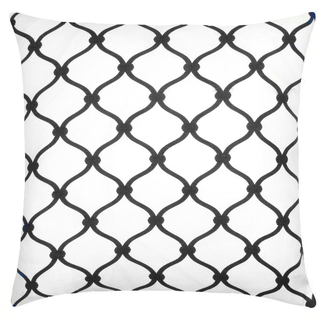 Fence Linen Pillow - Black