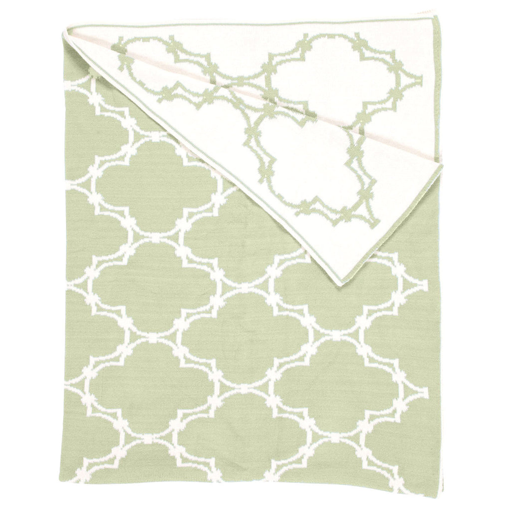 Quatrefoil Throw - Sage Green