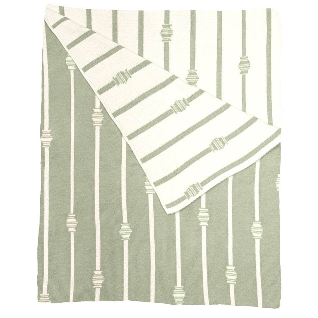 Stripe Throw  - Sage Green