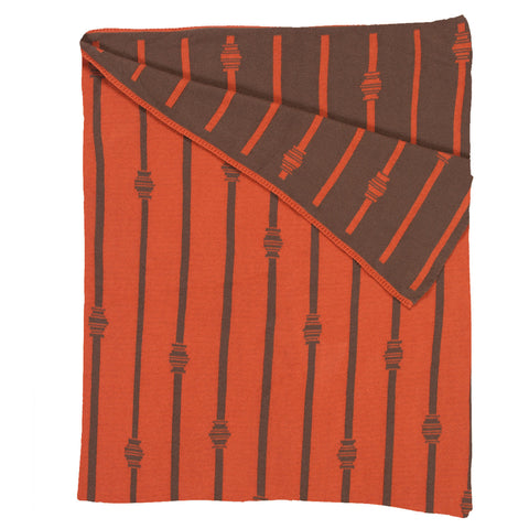 Stripe Throw - Burnt Orange