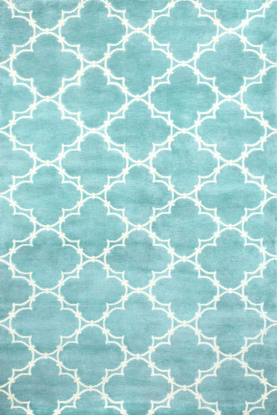 Quatrefoil Rug - Light Blue