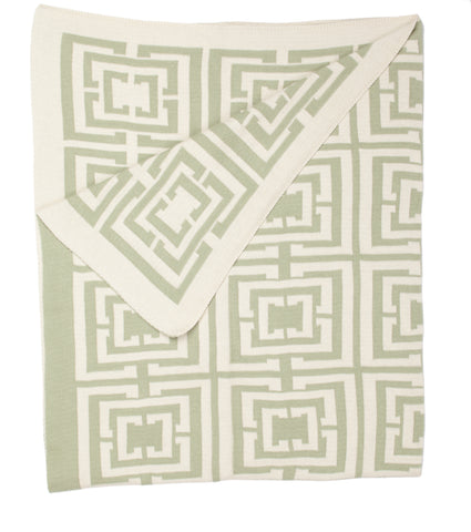 COCOCOZY Logo Throw - Sage Green