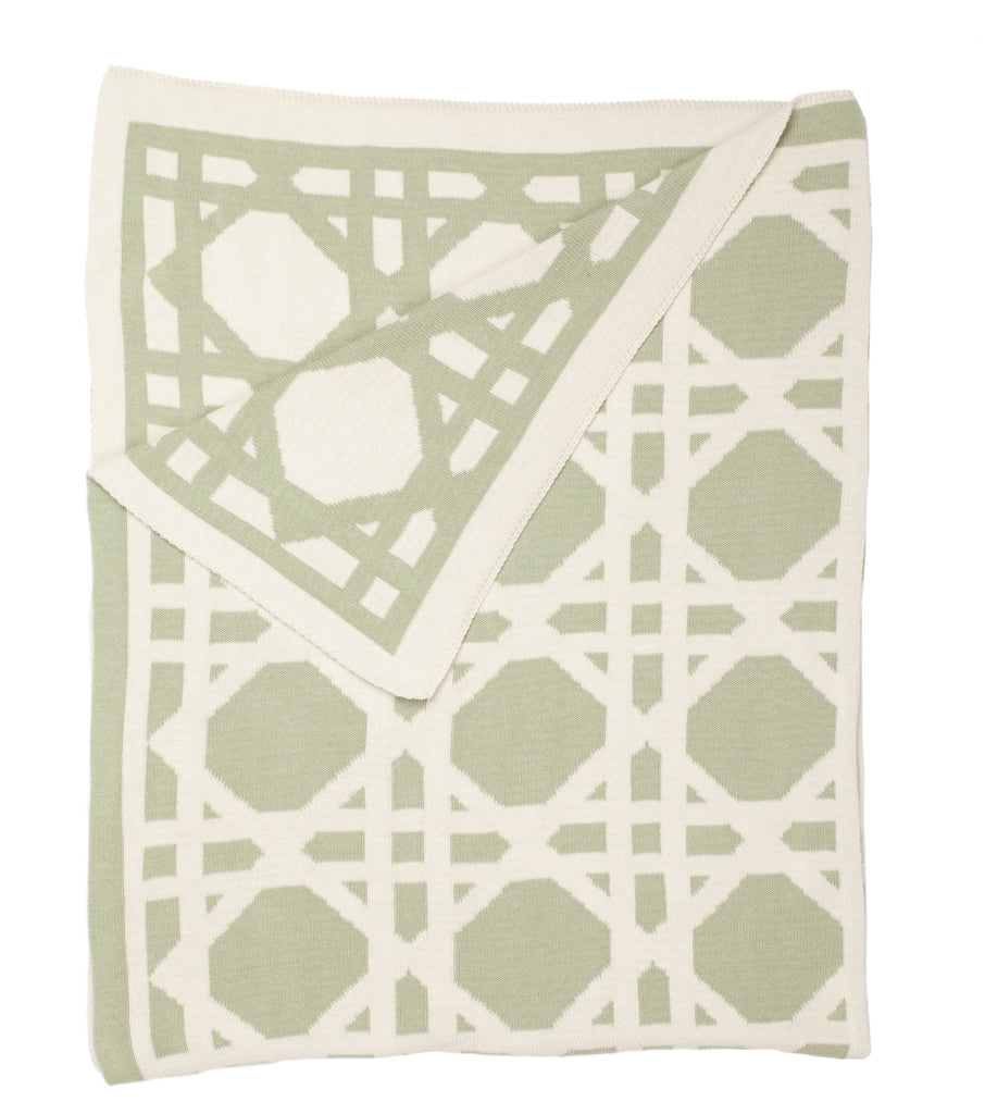 Cane Throw - Sage Green