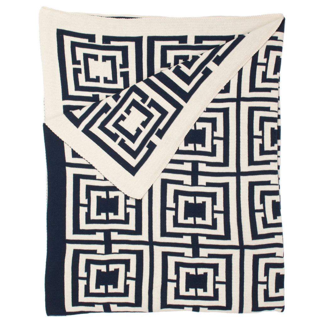COCOCOZY Logo Throw - Navy