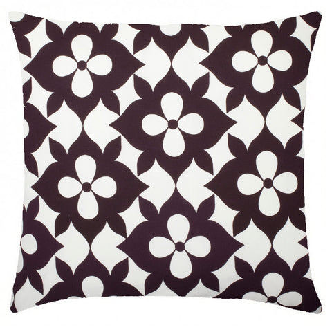 Coco's Flower Cotton Pillow - Plum