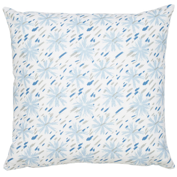 Etoile Cotton Pillow - Smoke & Blue