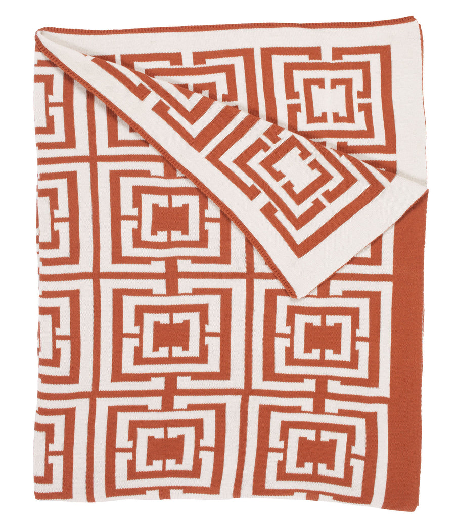 COCOCOZY Logo Throw - Burnt Orange