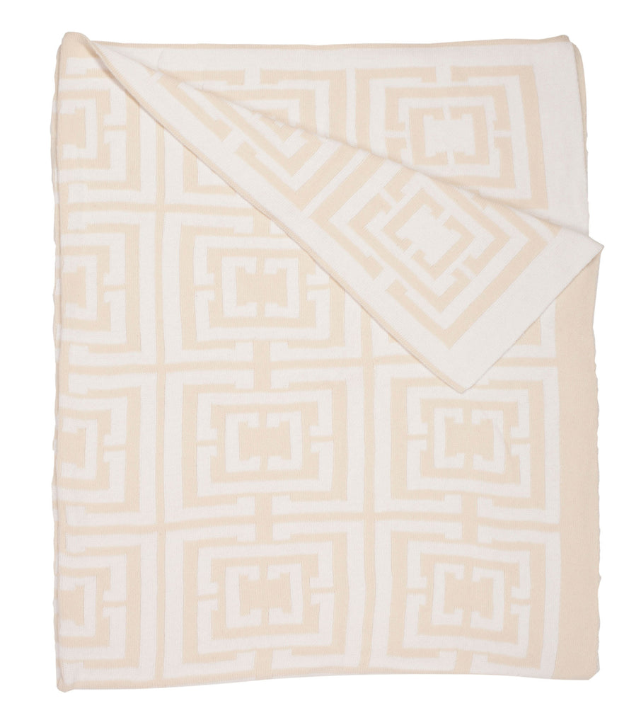 COCOCOZY Logo Throw - Cream