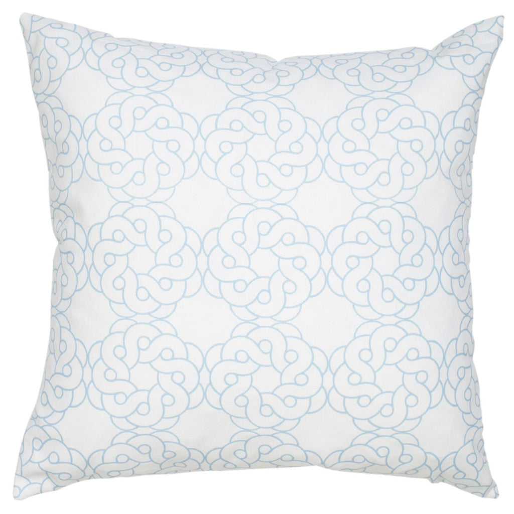 Maroc Cotton Pillow - Sky Blue