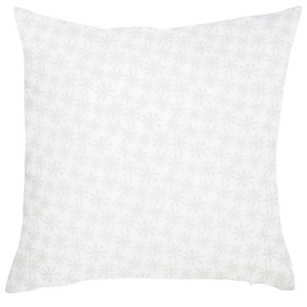 Petite Etoile Cotton Pillow - Mist Grey