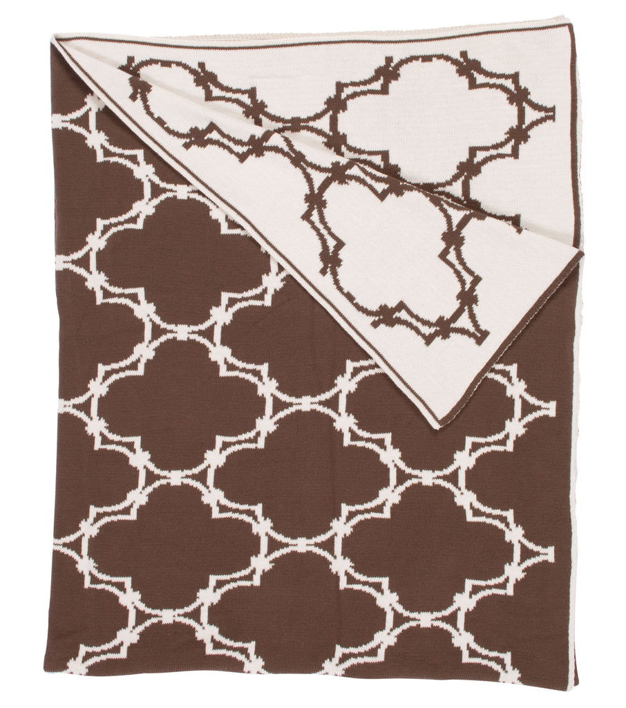 Quatrefoil Throw - Brown