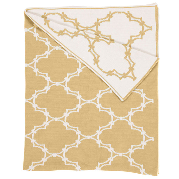 Quatrefoil Throw - Gold