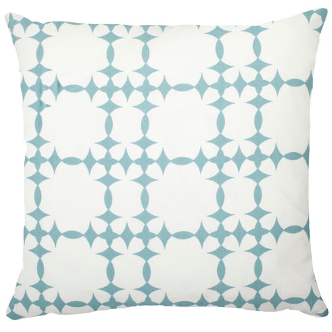 Tower Court Cotton Pillow - Light Blue