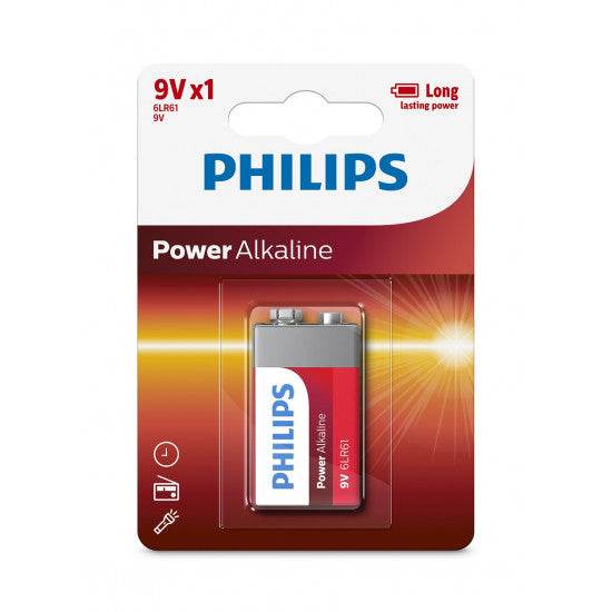 Philips Power Alkaline Battery 9 volt