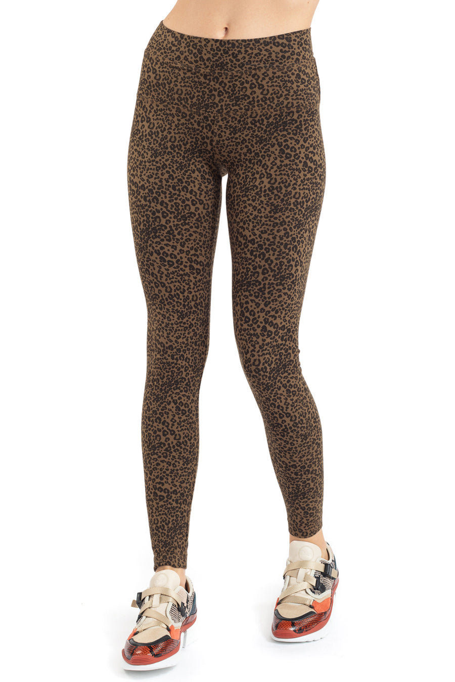 Hard Tail Forever Leopard High Rise Ankle Legging - Hickory - L