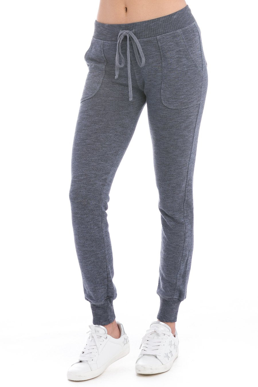 Hard Tail Forever Charcoal Vintage French Terry Ankle Jogger Pants - Dusk - M