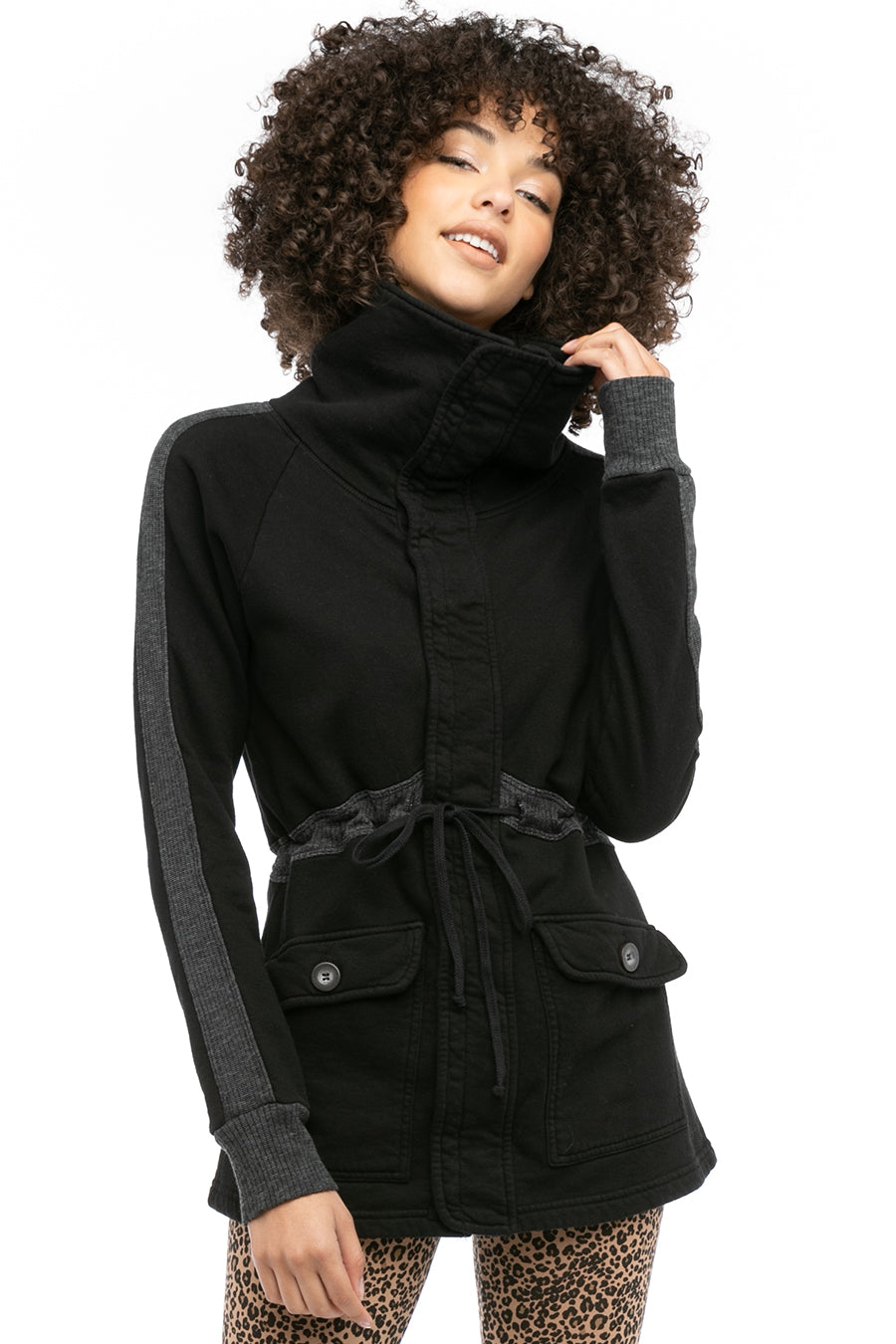 Hard Tail Forever Ribbed Cozy Jacket - Black - S