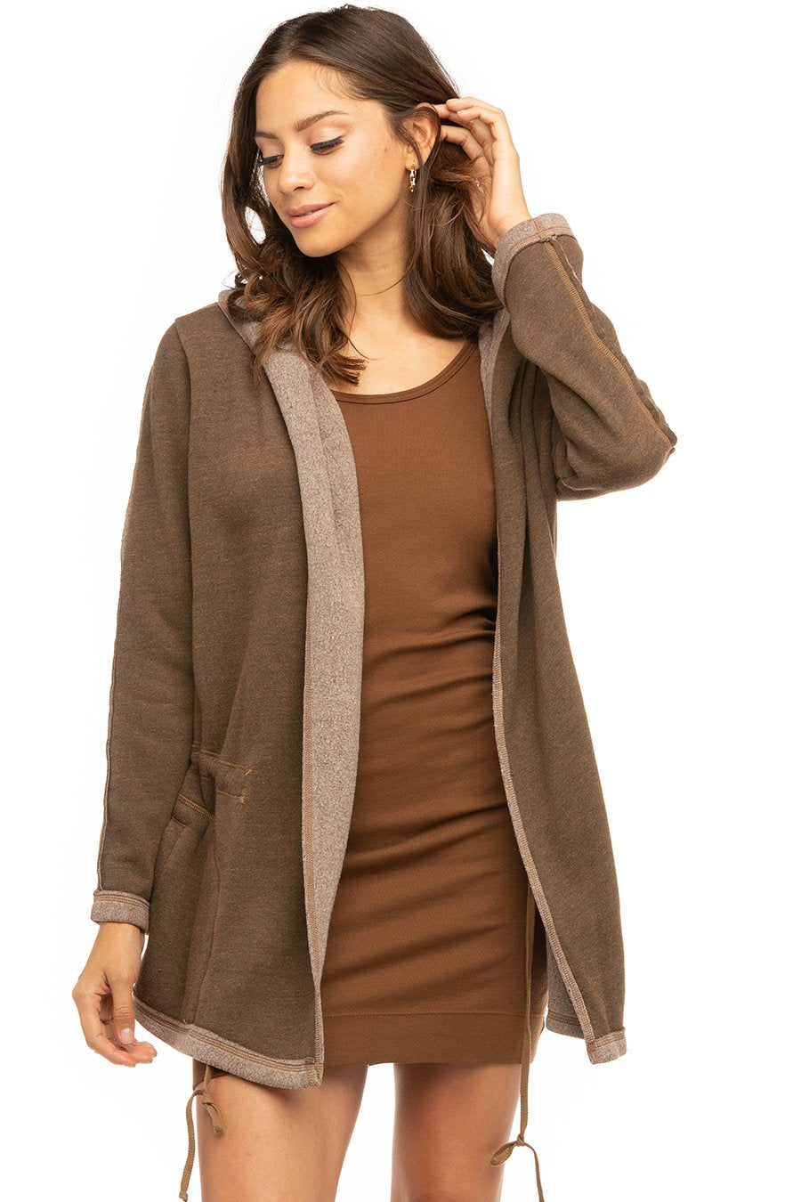 Hard Tail Forever Cozy Anorak Jacket - Cognac - S