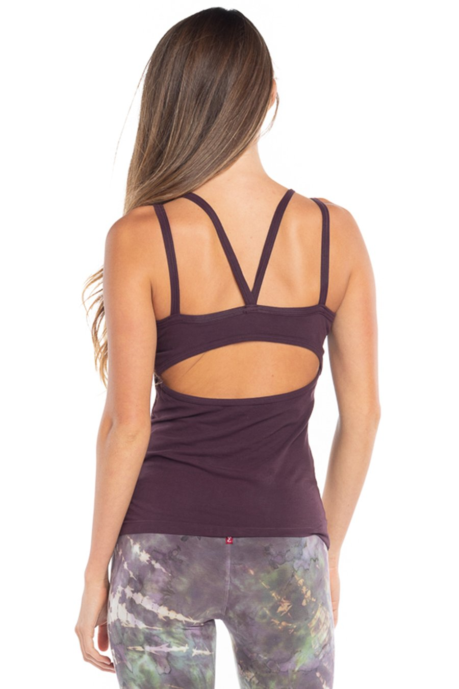Hard Tail Forever Eagle Eye Tank Top - Red Plum - L