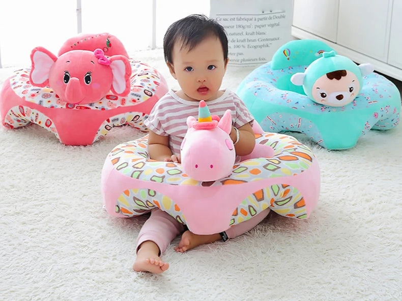 lovebabymammy.com Baby Sofa Cover Learn to Sit Seat Feeding Chair Cover Washable Baby Sofa Skin for Infant Kid Sofa Cover Soft Seat Case No Cotton
