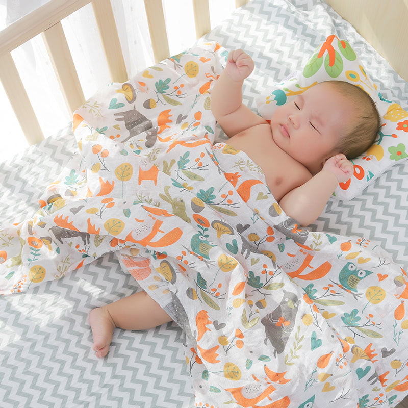 lovebabymammy.com [simfamily]Baby Nursing Pillow Infant Newborn Sleep Support Concave Cartoon Pillow Printed Shaping Cushion Prevent Flat Head