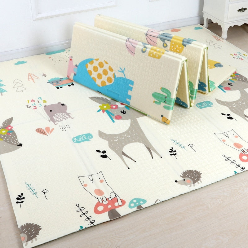 lovebabymammy.com 200*180cm  Foldable Cartoon Baby Play Mat Xpe Puzzle Children's Mat Baby Climbing Pad Kids Rug Baby Games Mats