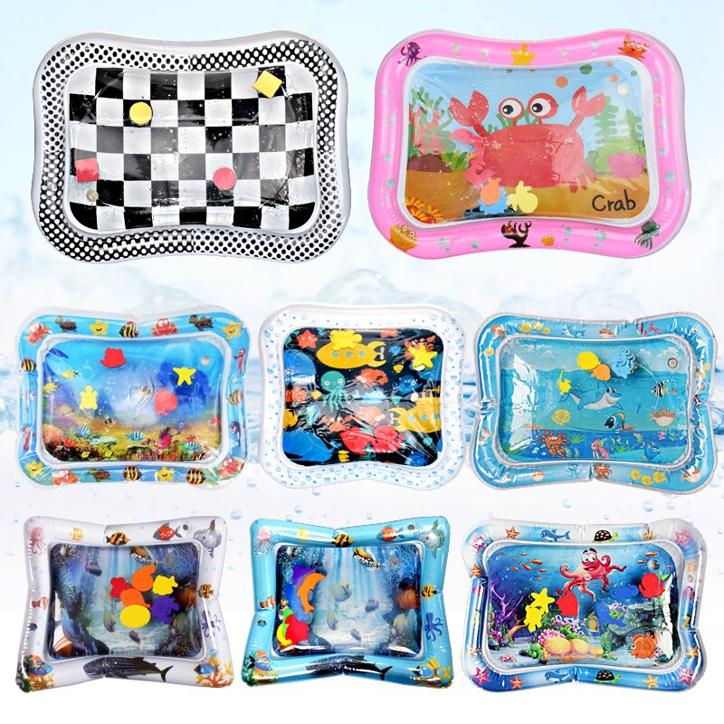 lovebabymammy.com Creative Water Mat Baby Inflatable Patted Pad Baby Inflatable Water Cushion Infant Play Mat Toddler Funny Pat Pad Toys
