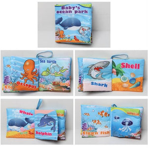 lovebabymammy.com Baby Toys Infant Baby Book Early Development Cloth Books For Kids Learning Education Activity Books Animal Tails Dinosaur SZ04