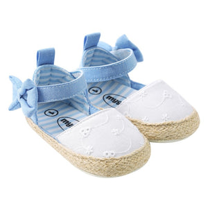 lovebabymammy.com Newborn Baby Bow Sandals for Girls Summer Newborn Cotton Baby Girl Sandals Fashion Beach Soft Shoes Princess Sandals Hot