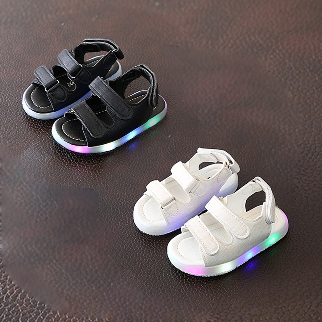 lovebabymammy.com Summer Velcro Children Sandals Summer Non-Slip First Walkers Infant Kids Baby Girls Beach Sneaker Sandals Casual Shoes