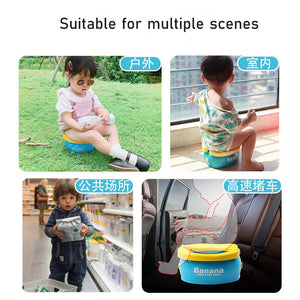 lovebabymammy.com Portable Baby Toilet Foldaway Potty Toddler Travel Car Potty Rings With Urine Bags For Kids Girls Boys Outside Toilet Seat