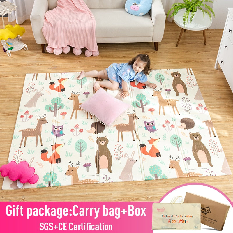 lovebabymammy.com Infant Shining Baby Play Mat Xpe Puzzle Children's Mat Thickened Tapete Infantil Baby Room Crawling Pad Folding Mat Baby Carpet