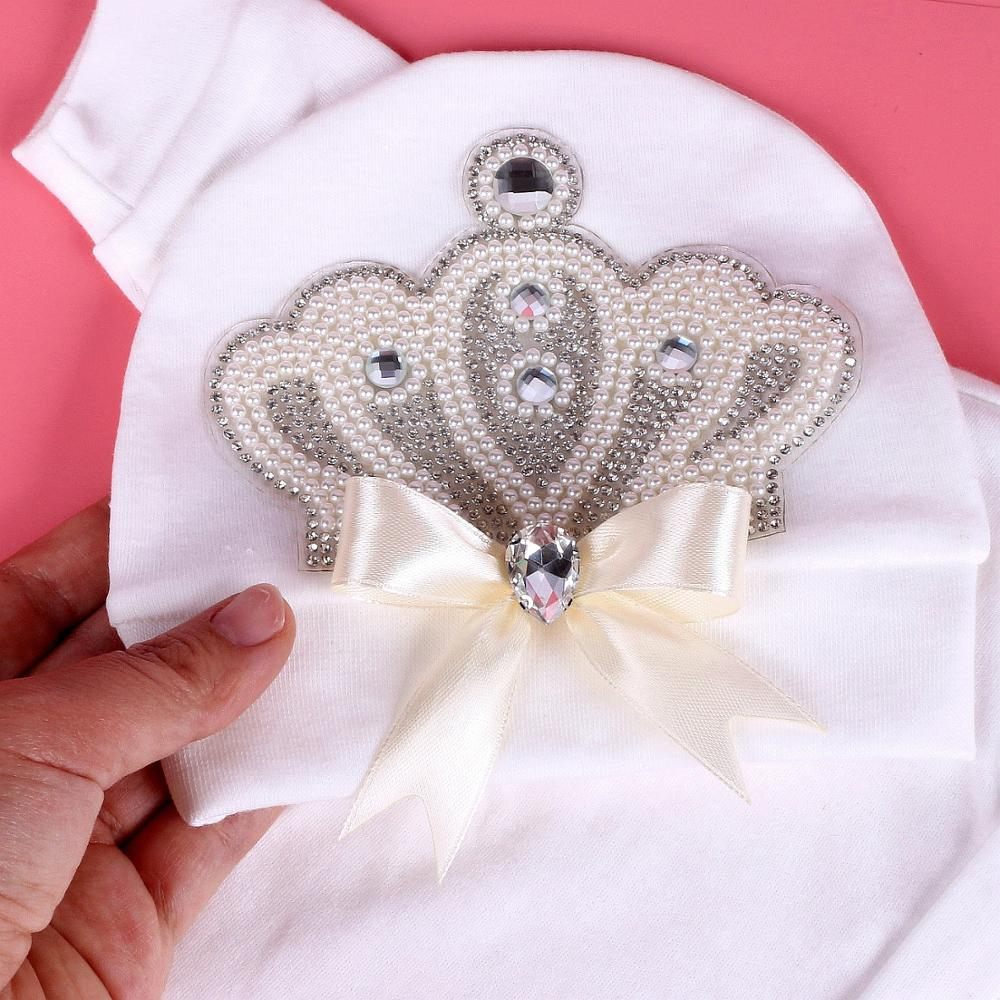 lovebabymammy.com 0-6 month baby Girls Clothing Sets princess pearl crown with bow newborn Infant baby bodysuit Pajamas Outfit 2020 Baby Clothes Gift New