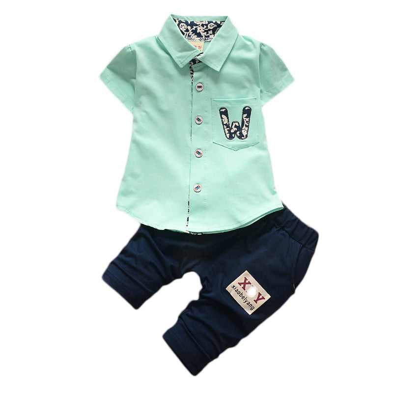 lovebabymammy.com Newborn Boys Clothing Sets Summer Baby Boy Rompers Sets  Infant Boy T-shirts+Casual Shorts pants Outfits Sets Tracksuit