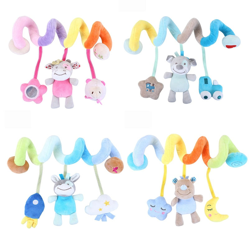 lovebabymammy.com Soft Baby Toys 0-12 Months Music Crib Stroller Hanging Spiral Kids Sensory Educational Toy For Newborn Baby Rattles Bed Bell