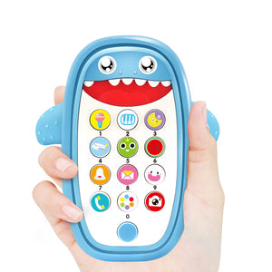 lovebabymammy.com Baby Rattle Bed Toy English Phone Shark Music Mobile for Kid Cartoon Stroller Education Newborn 0-12 Months Infant Child Toddler