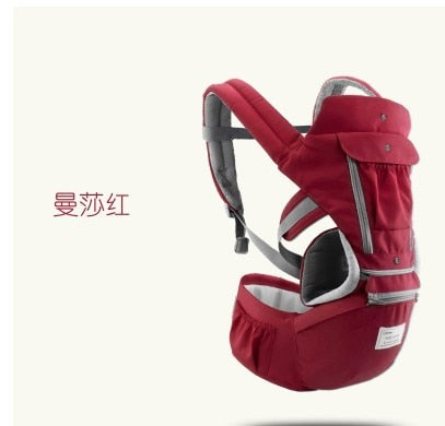 lovebabymammy.com Ergonomic Baby Carrier Infant Kid Baby Hipseat Sling Front Facing Kangaroo Baby Wrap Carrier for Baby Travel 0-36 Months